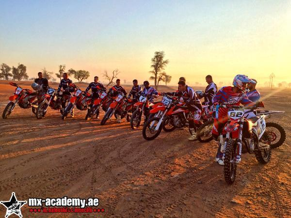 Dubai desert drive at the MX-Academy